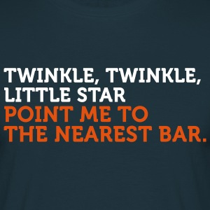 Point Me To The Nearest Bar (2c) T-shirts - Herre-T-shirt