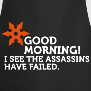 I See The Assassins Have Failed (2c)  Aprons - Cooking Apron