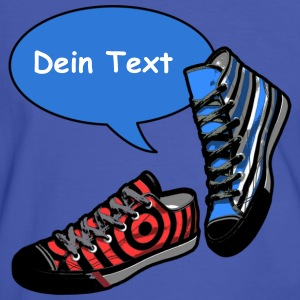 TALKING SHOES blau - Dein Text | unisex kontrastsh - Männer Kontrast-T-Shirt
