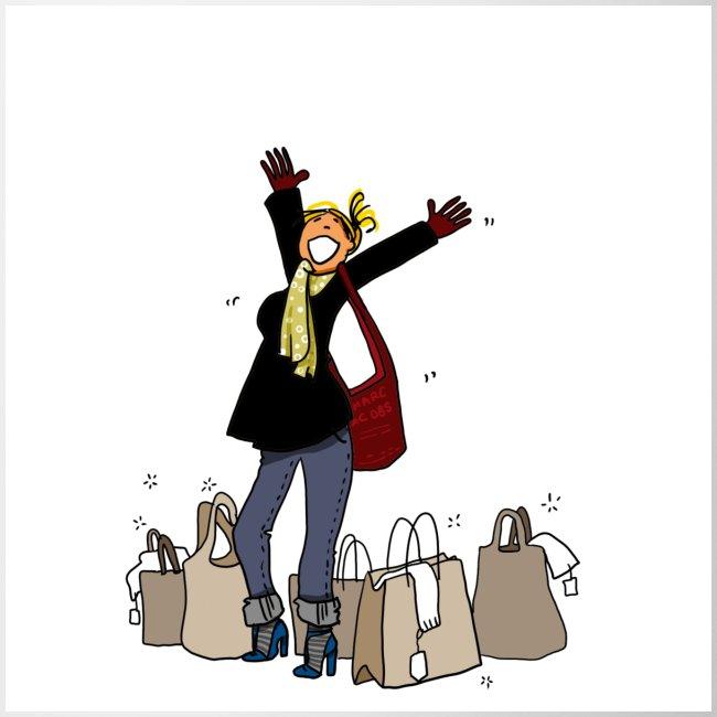 Mug accro du shopping