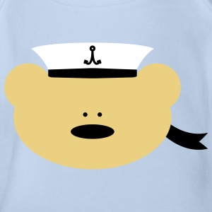 Teddy Bear Sailor Body neonato - Body ecologico per neonato a manica corta