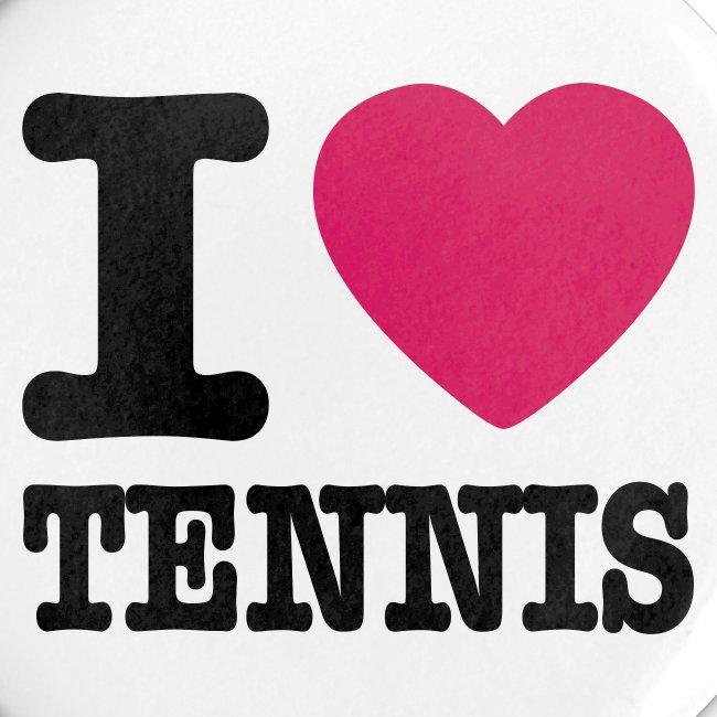 I Love Tennis Button 1