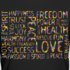 AFFIRMATIONS - flower power style | Frauenshirt organic black - Frauen Bio-T-Shirt