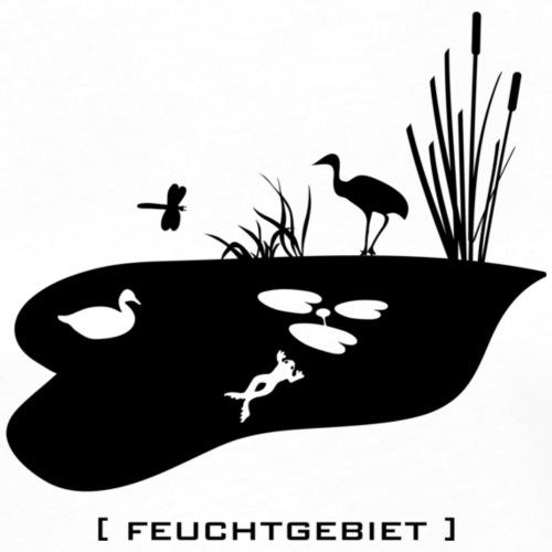Feuchtgebiet Frosch Tümpel See Weiher Vogel schwarz