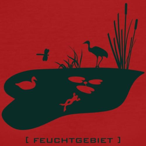 Feuchtgebiet Frosch Tümpel See Weiher Vogel grün