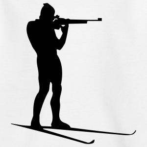 biathlon winter sport Kinder T-Shirts - Teenager T-Shirt