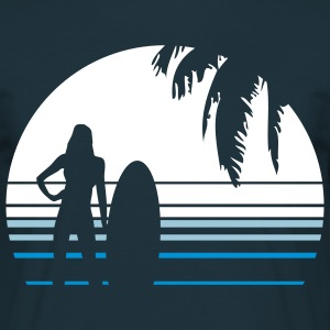 BEACH SURFING GIRL PALME T-shirts - T-shirt herr