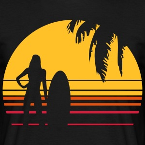 BEACH SURFING GIRL PALME T-shirts - Herre-T-shirt