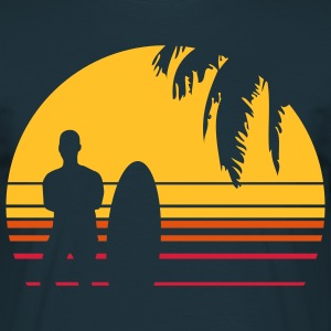 BEACH SURFING BOY PALME T-shirts - Mannen T-shirt