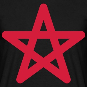 pentagram star halloween T-shirts - T-shirt herr