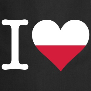 I Love Poland (3c)  Aprons - Cooking Apron