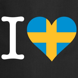 I Love Sweden (3c)  Aprons - Cooking Apron
