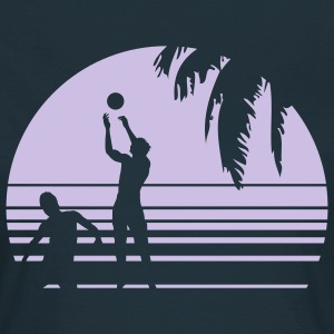 BEACH VOLLEYBALL SUNSET PALME 1C T-shirts - Dame-T-shirt