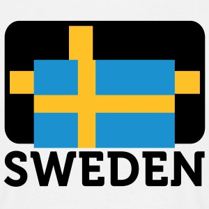Flag Sweden (DD) T-shirts - Herre-T-shirt