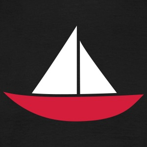 Zeilboot papieren bootje Captain Sailor T-shirts - Mannen T-shirt