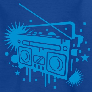 Radio cassette recorder graffiti Kids' Shirts - Teenage T-shirt