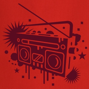 Radio cassette recorder graffiti  Aprons - Cooking Apron
