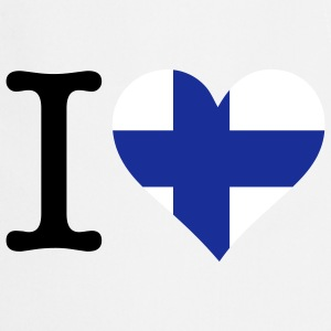 I Love Finland (3c)  Aprons - Cooking Apron