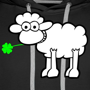 Sheep with clover Hoodies & Sweatshirts - Men's Premium Hoodie