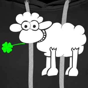 Sheep with clover for dark shirts Hoodies & Sweatshirts - Men's Premium Hoodie