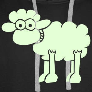 Sheep for dark shirts Hoodies & Sweatshirts - Men's Premium Hoodie