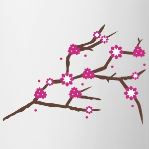 A branch with cherry blossoms  Mugs  - Mug