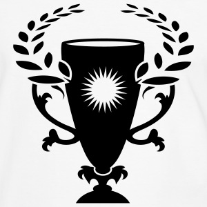 A Winner Cup with laurel wreath T-Shirts - Men's Ringer Shirt
