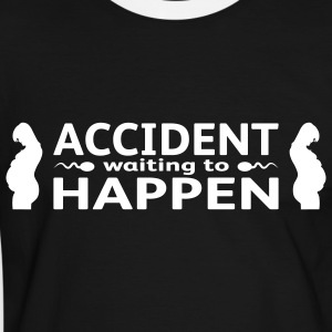 Accident Waiting To Happen - Kontrast-T-shirt herr