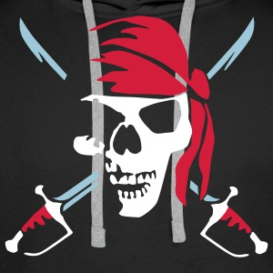 pirate_saber_022011_b_3c Sweat-shirts - Sweat-shirt à capuche Premium pour hommes