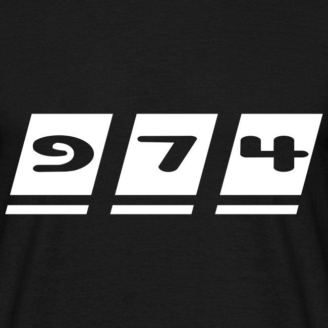T-shirt Homme écriture 974 - Réunion