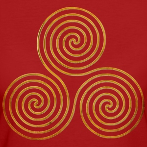 celtic triple spiral - OnLine antique gold | Frauenshirt organic - Frauen Bio-T-Shirt