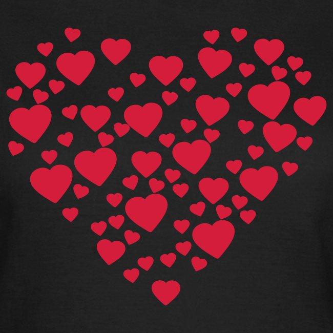 Womens Love Heart T-shirt