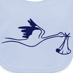 Stork with Baby Accessories - Baby Organic Bib