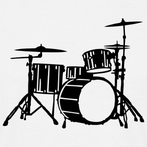 Drums Silhouette Detailed T-Shirts - Männer T-Shirt