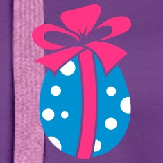 A colorful Easteregg with ribbon Hoodies & Sweatshirts