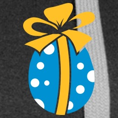 A colorful Easteregg with ribbon Coats & Jackets