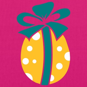 A colorful Easteregg with ribbon Bags  - EarthPositive Tote Bag
