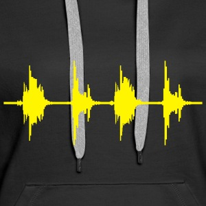 BASS BOX WAVE Sweatshirts - Sweat-shirt à capuche Premium pour femmes