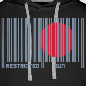 Restricted Sun, Dim. restreint, code à barres. Sweat-shirts - Sweat-shirt à capuche Premium pour hommes