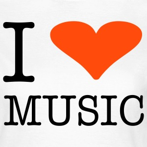 I LOVE MUSIC - Frauen T-Shirt