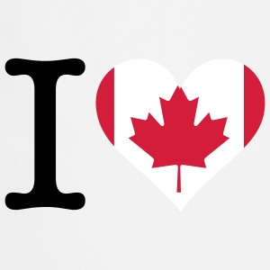 I Love Canada (3c)  Aprons - Cooking Apron