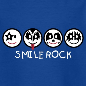Smiley Kiss Icons (horizontal) 3c Kinder T-Shirts - Teenager T-Shirt