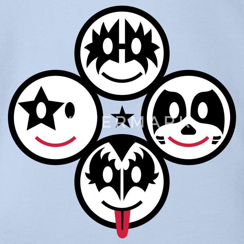 smiley kiss icons quadratisch 3c baby body spreadshirt