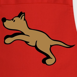 Dog jumping  Aprons - Cooking Apron