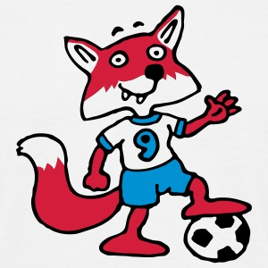 soccer_fox_d_white_3c T-skjorter - T-skjorte for menn