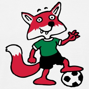 soccer_fox_o_white_3c T-skjorter - T-skjorte for menn