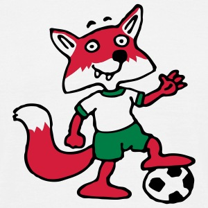 soccer_fox_p_white_3c T-skjorter - T-skjorte for menn