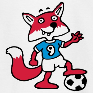 soccer_fox_e_white_3c Shirts - Teenager T-shirt