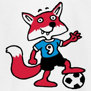 soccer_fox_f_white_3c Shirts - Teenager T-shirt
