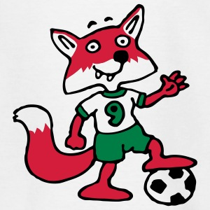 soccer_fox_j_white_3c Shirts - Teenager T-shirt